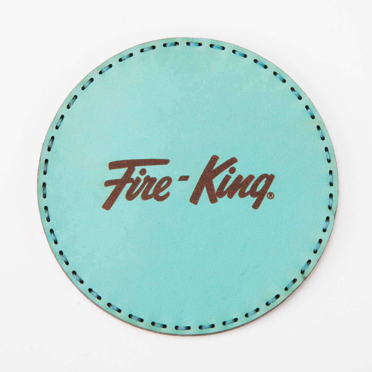 Fire-King レザーコースター by OJAGA DESIGN