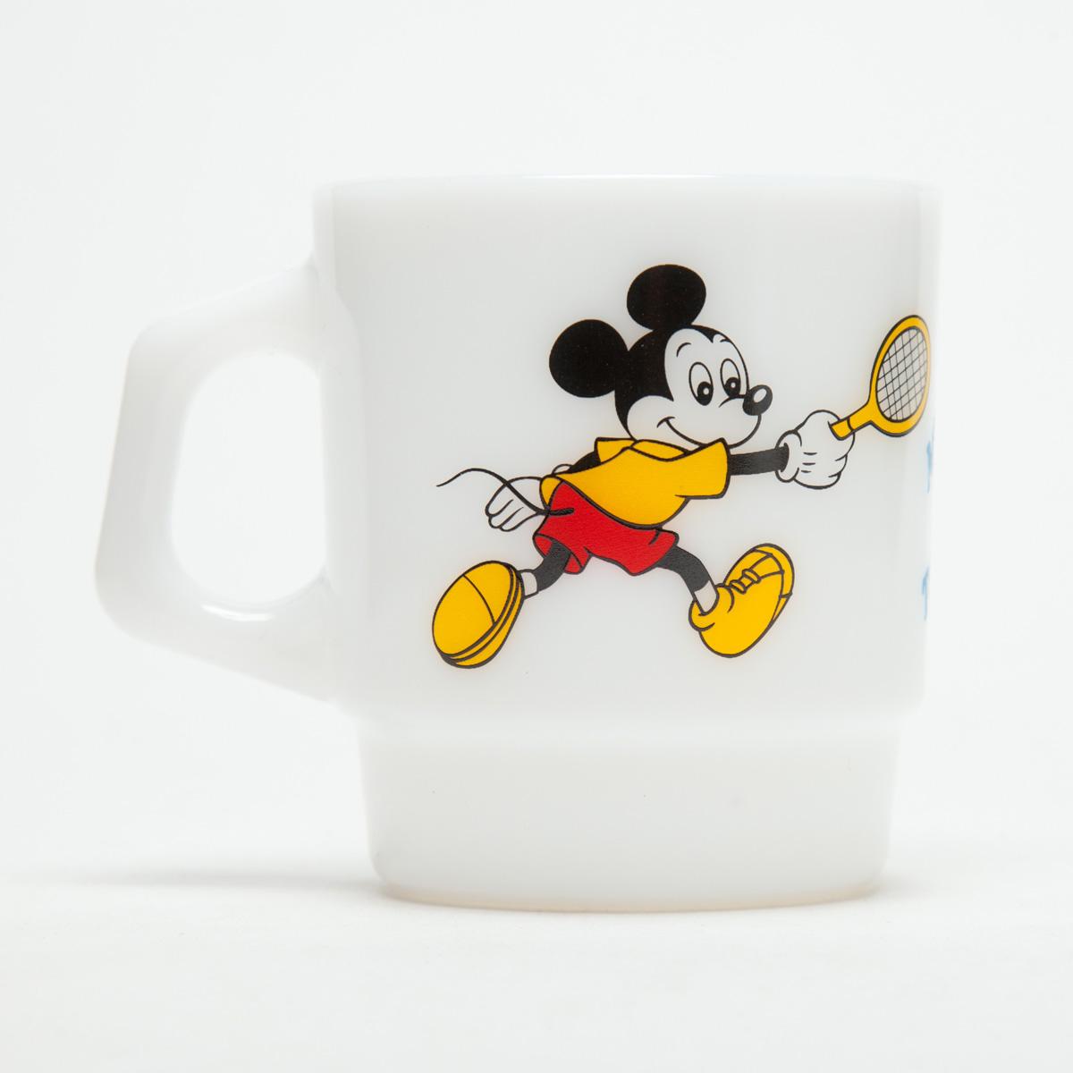 Fire-King スタッキングマグ Disney [Mickey's Tennis]