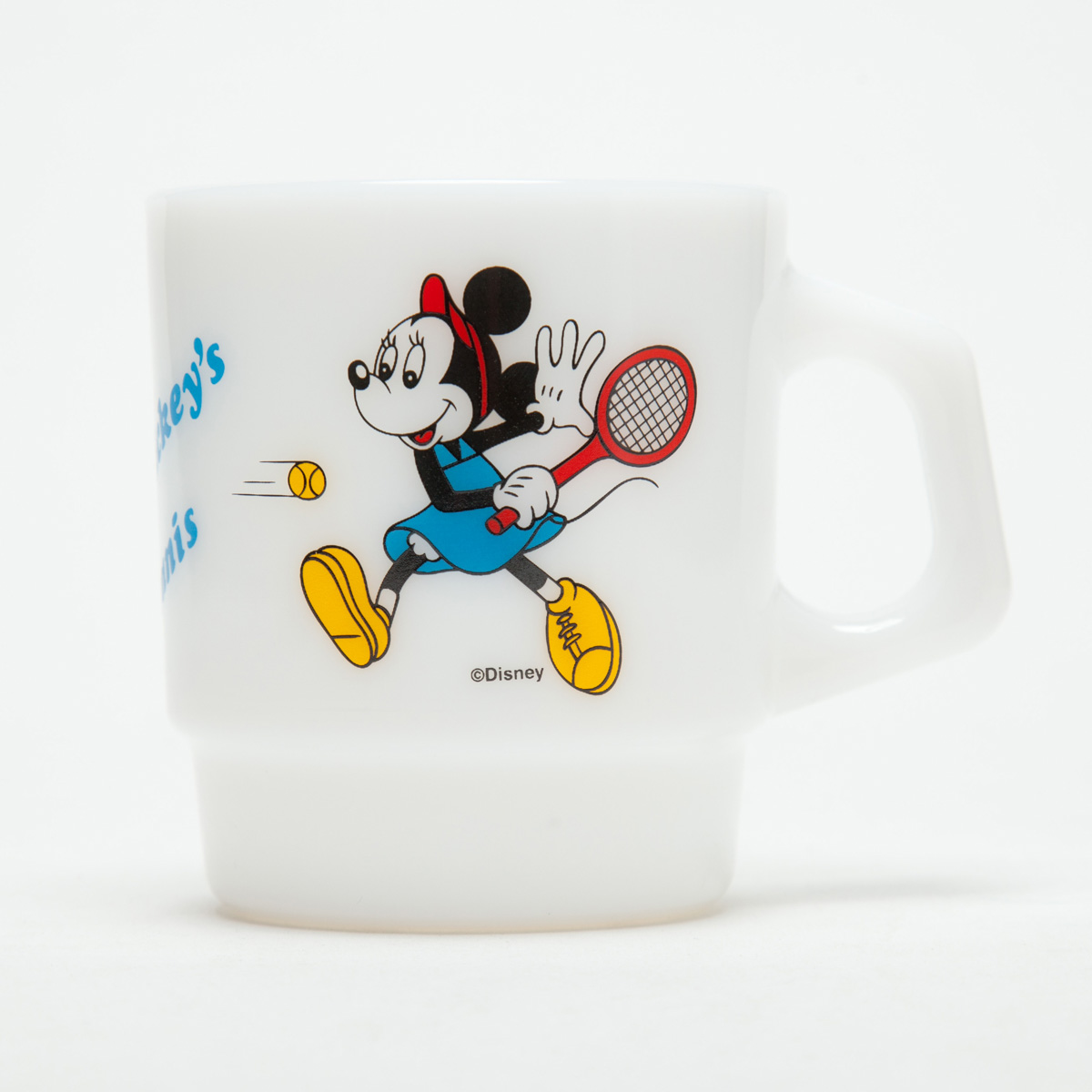 Fire-King スタッキングマグ Disney [Mickey's Tennis]