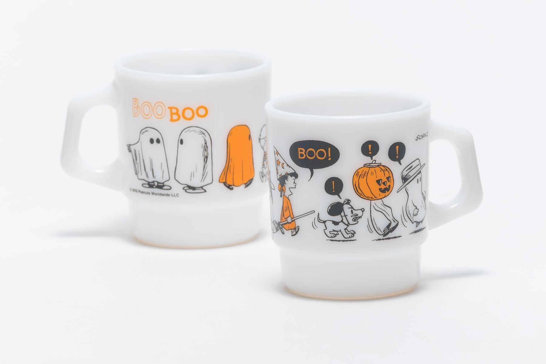 Fire-King スタッキングマグ Peanuts Halloween [BOO]