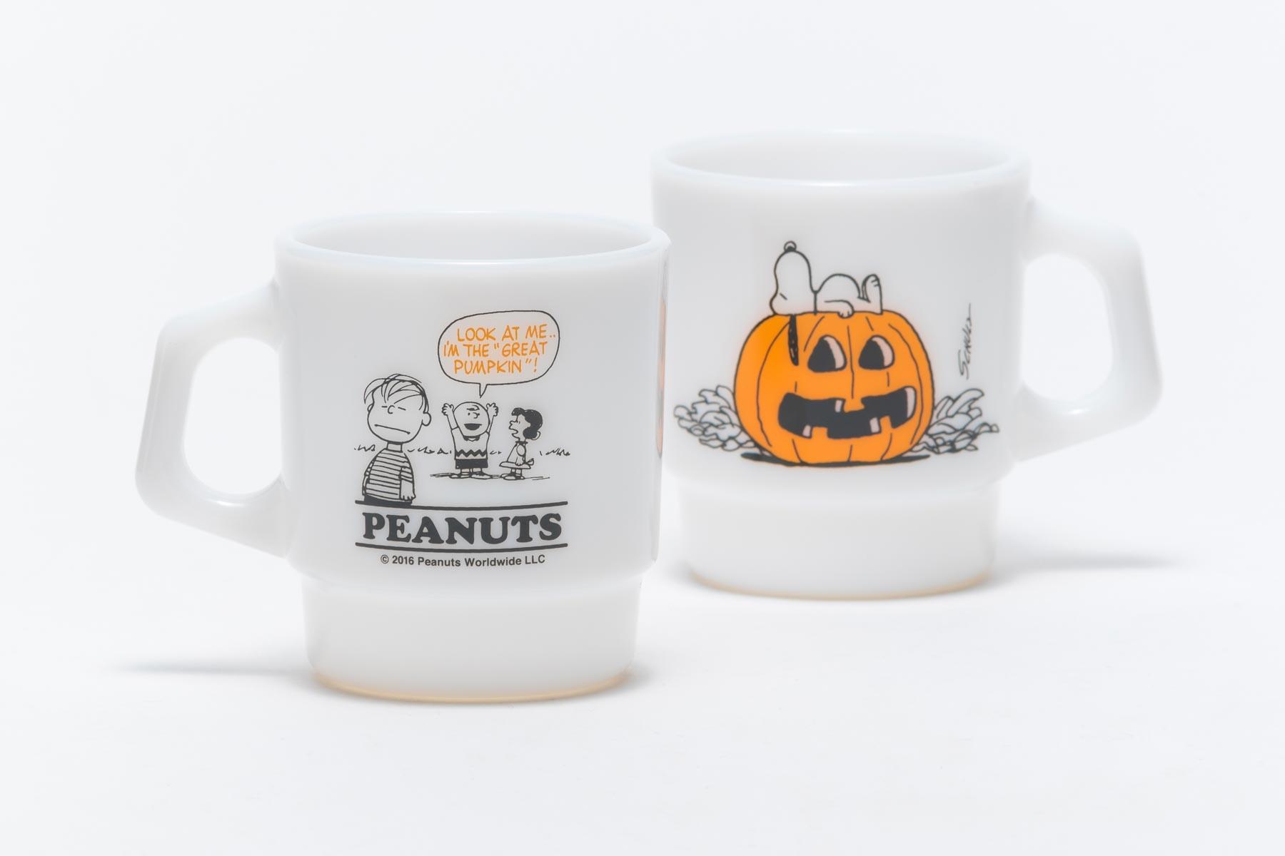 Fire-King スタッキングマグ Peanuts Halloween [PUMPKIN]